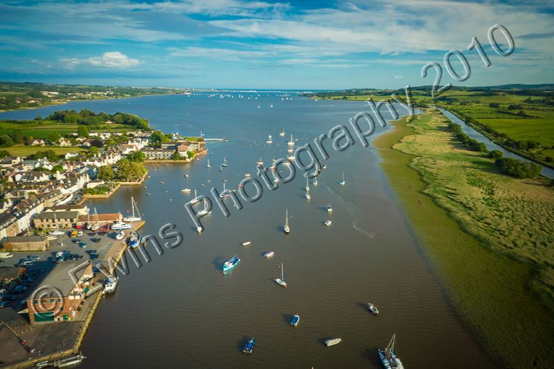 High over the river Exe at Topsham Devon